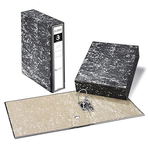 Archivador A-Z + Caja PRAXTON Negro Jaspedado, Din-A4 75 mm.