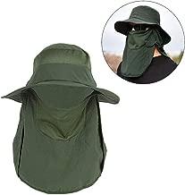 XSRTT Sombrero para el Sol Gorro Pescador Anti-UV UPF50+ Gorra Pesca Solar ala Ancha Transpirable Multiusos con Velo y Mosquitera Protección Cuello Al Aire Libre