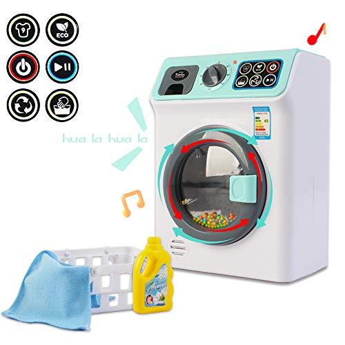 """deAO """"Meine erste Waschmaschine Wäsche- Und Reinigungsspielset Für Kinder Mit Einer Vielzahl Von Waschzubehör Und Realistischen Funktionen"""