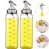 Olive Oil Dispenser Bottle - 2 Pack of 17 oz. Big Olive Oil Dispenser...