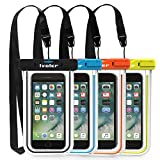 ivoler [4 Pezzi] Custodia Impermeabile Smartphone, IPX8 Universale Borsa Impermeabile Sacchetto Impermeabile Cellulare Dry Bag Waterproof per iPhone, Samsung, Huawei, ECC. (Nero+Blu+Verde+Orange)