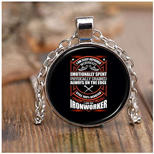 OMANECK I Love Being an Ironworker Necklace Nickel, I Am an Ironworker Necklaces (Necklace - Nickel - Black)