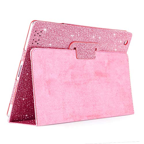 iPad 2 3 4 Glitter Case,FANSONG Sparkle Bling PU Leather Smart Cover [Flip Stand Function] [Auto Sleep/Wake] Case for Apple iPad 2/3/4 (Oldest iPad Model)