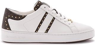 Michael Kors Woman's Sneaker Keaton in Pelle Bianca E Dettali Logati