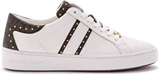 Michael Kors Woman's Keaton Sneaker in White Leather and Details
