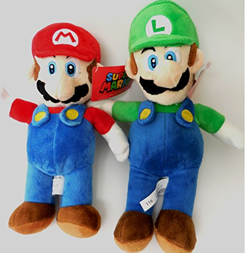 Super Mario Luigi Brothers Soft Plush Doll Set 12'