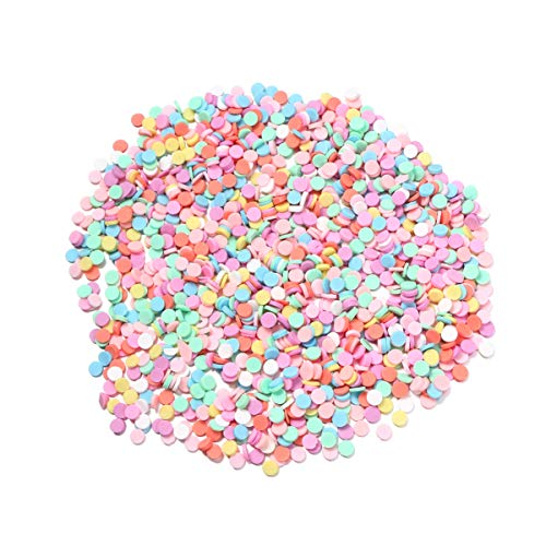 Artibetter 100g/Pack Fake Sprinkles for Slime Charms Filler DIY Slime Supplies Fake Candy Chocolate Cake Dessert Mud Particles Toy (Mixed Color)