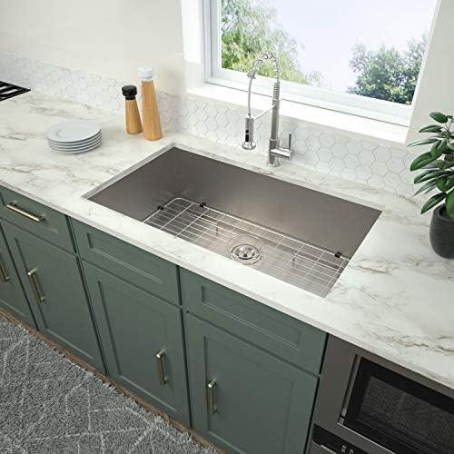32 Undermount Kitchen Sink Logmey 32 inch Kitchen Sink Undermount Single Bowl 18 Gauge Stainless product image