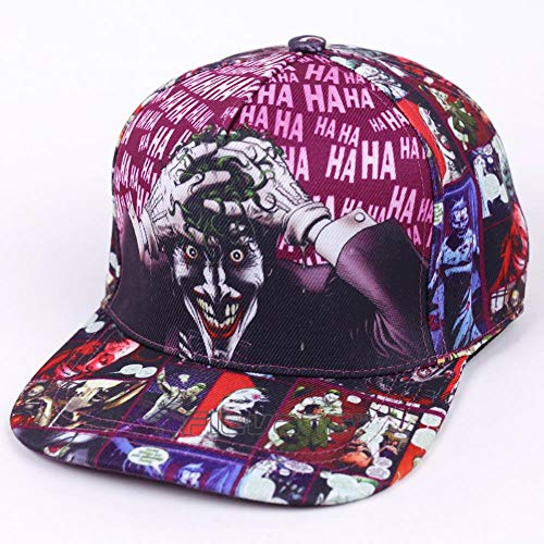 WULIAN Dc Comic Die Joker Marke Snapback Cap Modedruck Männer Frauen Verstellbare Baseballkappen Adult Hip Hop Hat
