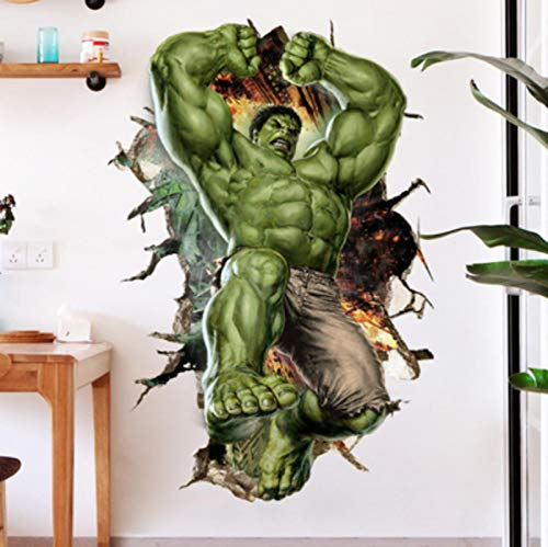 60X90CM 3D Avengers Spiderman Iron Man Captain America Thor Hulk Superman Vinilos De Pared Decorativos Pegatinas Pared Decorativas Vinilo Pared Obras De Arte Y Material Decorativ