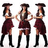 GBYAY Disfraz de Pirata para Mujer, Talla Grande para Mujer, Disfraz de Fiesta de Halloween, Carnaval para Adultos, Jack Sparrow, Disfraces de Cosplay