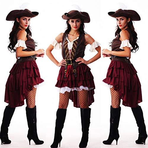 GBYAY Disfraz de Pirata para Mujer, Talla Grande para Mujer, Disfraz de Fiesta...