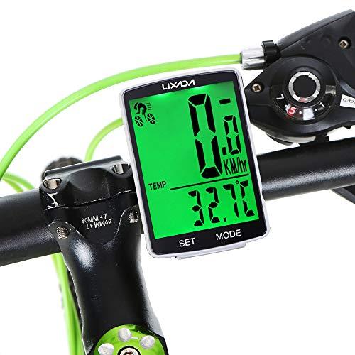Lixada Bike Computer Wireless Multifunctional LCD Screen Bicycle Computer Bike Rainproof Speedometer...