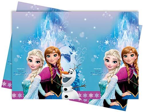 Procos 86884 - Tischdecke Frozen Northern Lights, Größe 120 x 180 cm, Anna, Elsa, Olaf, Partydekoration, Kindergeburtstag