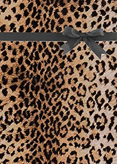 True Natural Leopard Gift Wrap Wrapping Paper 15ft Roll with 20 Gift Tags