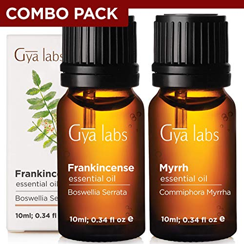 Gya Labs Frankincense and Myrrh Essential Oil Combo Pack – 100 Pure Therapeutic Grade Frankincense and Myrrh Oil