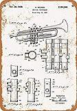 Placa de metal de 20 x 30 cm, 1939 Selmer trompeta de patente de arte de la decoración del hogar Wll para la sala de café, bar, decoración vintage