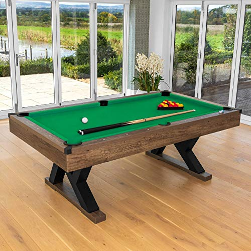 Pinpoint Pool Table | Pool Table with Balls, Chalk, Pool Triangle & Brush | Pool Table, Pool Balls & Pool Cues | Billiard, Snooker & Pool Tables | Pub Accessories