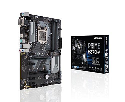Asus Intel H370 LGA-1151 ATX - Placa con iluminación LED, DDR4 2666MHz, dual M.2, Intel Optane memory ready, HDMI, SATA 6Gbps y USB 3.1 Gen 2