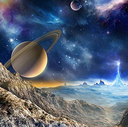 Fotomural - Planeta Universo - Papel Pintado Mural Fotomurales Murales Pared Papel Para Pared Foto 3D Mural Pared Barato Decorativo, (W350 X H250Cm)