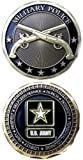 Eagle Crest US Armed Forces Army Star Logo Military Police Crossed Guns
