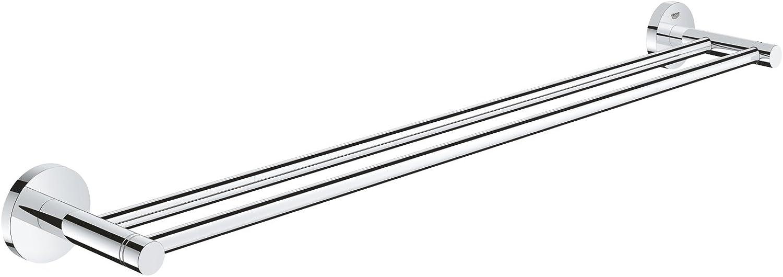 Grohe 40802001 Essentials Double Towel Bar, 26.182 x 4.725 x 2.363, Chrome