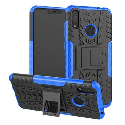 LiuShan Zenfone Max (M2) ZB633KL Custodia, Protettiva Shockproof Rigida Dual Layer Resistente agli Urti con cavalletto Caso per ASUS Zenfone Max (M2) ZB633KL Smartphone,Blu