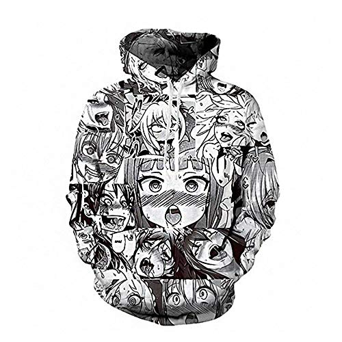 Men Hentais Hentia Ahegao Hoodies Sweater Face Waifu Sweatshirts Shirt X