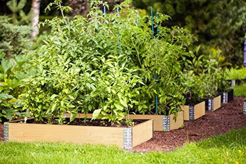 FARMERS FUN Hochbeet Rahmen 80x60x19cm, Gartenbeet erweiterbar auf beliebige Höhe, stapelbar, Material: Fichte, Kiefer, Farbe: Natur
