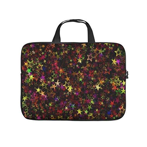 Colourful Stars Pattern Laptop Bag Waterproof Laptop Case Pattern Notebook Bag for University Work Business