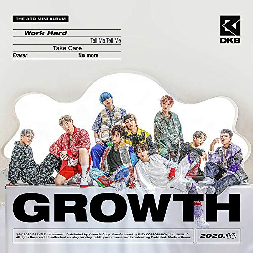 DKB [GROWTH] 3rd Mini Album. 1ea CD+64p Photo Book+1ea Post Card+2ea Photo Card+1ea Sticker+TRACKING CODE K-POP SEALED