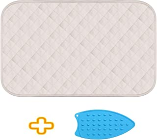 Grand thousand Ironing Blanket Mat Laundry Pad Quilted Washer Dryer Heat Resistant Pad, Iron Board Alternative Cover Iron Express Portable Ironing Pad Iron on Flat Surface.