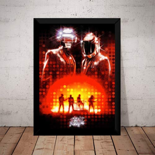 Quadro Musica Daft Punk Get Lucky Arte Poster Com Moldura