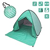ワンタッチ テント サンシェードテント FlyHakucho日除けUV50+ カーテン付き 2-3人用 超軽量 防水 通気性抜群 アウトドアキャンプ用品 キャリーバッグ付き