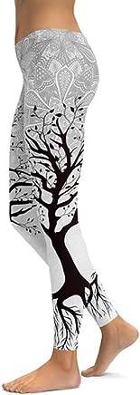 NSYJK Yoga pants Fitness Leggings Black Tree Yoga Pants Women Tight Wear Gym Training Sports Running Leggings New Elastic Trousers