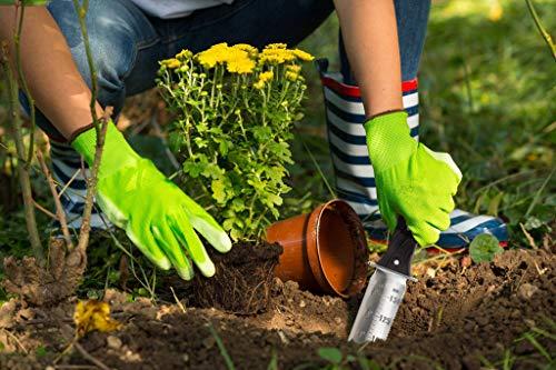 GARTOL Hori Hori Gardening Knife Tools - Weeding & Digging Knife, with 7.1inch Double Sharp Edge Japanese Blade and Full Tang Handle, Cowhide Protective Sheath, Sharpening Whetstone