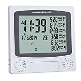 Precision Works Azan Alarm Clock with Large Display Desktop Wall Mount 4010