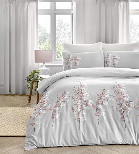 Dreams 'n' Drapes Parure de lit Motif Floral Oriental Facile d'entretien Rose Super King