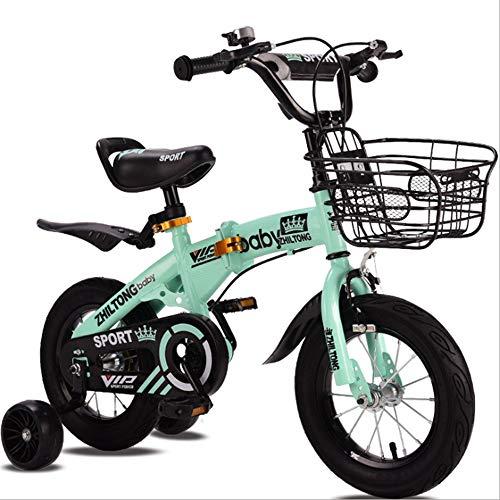 YWZQ Bicicletas para niños, Bicicletas para niños y niñas Los Asientos portátiles...