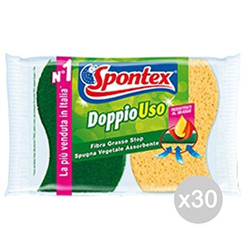 Set 30 SPONTEX Double Utilisation Fibre + X 2 Légumes Outil De Nettoyage De Maison