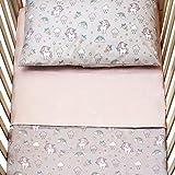 Cangoo Set lenzuola 3 pezzi per lettino neonato, culla, biancheria da letto bambino, 60x12...
