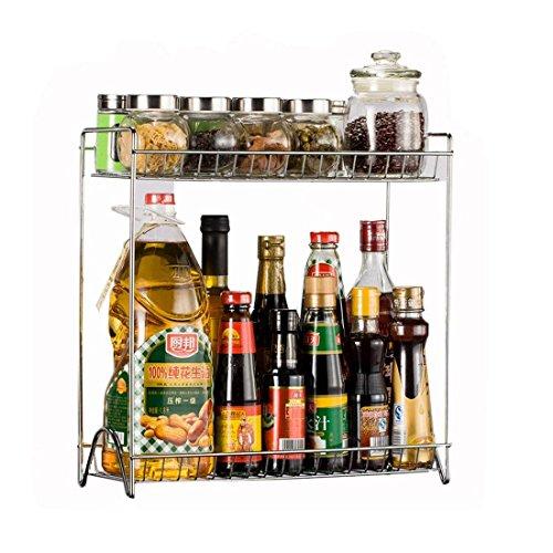 MAJOZ 2 Niveles Organizador Estantería Cocina, Cocina Baño Estante Encimera Multiuso/Estantería Especiero para Jabones, Frascos, Cosméticos, Especias, Hierbas, Condimentos, Cocina, Baño