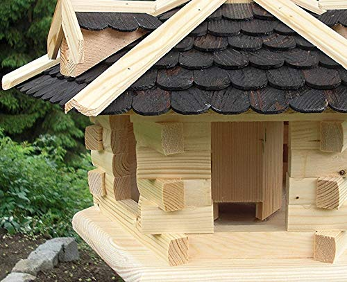 Vogelhaus-Gaube Groß (V31) Vogelhäuser Vogelfutterhaus Vogelhäuschen-aus Holz- - 3