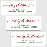 Oh Baby! Stickers & More 30 Personalized Merry Christmas Address Labels - Christmas Themed Return Address Labels (GT30)