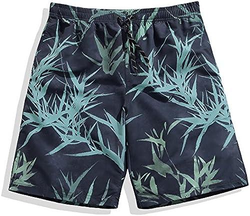 OME&QIUMEI Quick Dry Plage Plage Pantalon Homme Pantalon Lache Tcourirks courtes De Surf D'été Cinq L'Impression