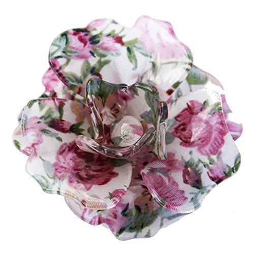 Diseño de flores broche con forma de tamaño grande 2 con estampado de flores acrílico brillante en. Muy bonito de accesorios de.