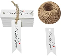 G2PLUS Let Love Grow Tags,100 PCS Kraft Paper Gift Tags with 100 Feet Jute Twine,Paper Hang Tags for Arts and Crafts,Wedding
