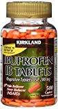 Kirkland Signature Ibuprofen IB Caplets - 500 Count (1 Bottle)