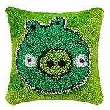 Kit de gancho de pestillo de cojín patrón de cerdo verde (43 x...