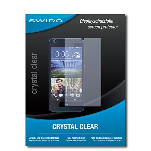 SWIDO Schutzfolie für HTC Desire 626G Dual SIM [2 Stück] Kristall-Klar, Hoher Festigkeitgrad, Schutz vor Öl, Staub & Kratzer/Glasfolie, Bildschirmschutz, Bildschirmschutzfolie, Panzerglas-Folie